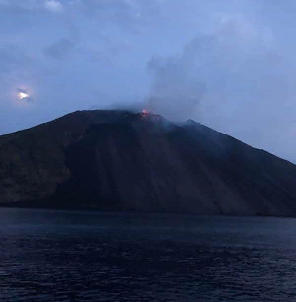 Stroboli volcano