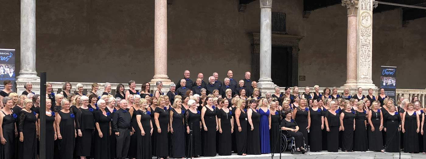 The large Hertfordshire's 'Classical Chorus' on tour in Italy