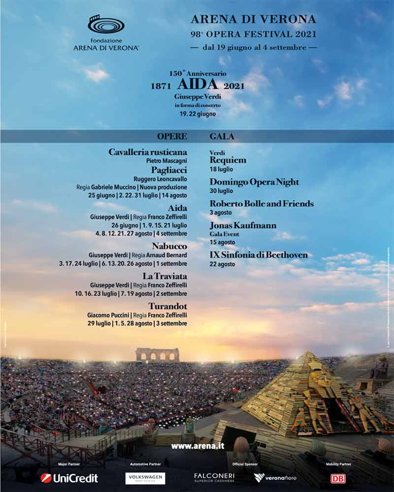 Arena di Verona - Summer opera Festivals in Italy